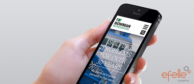 efelle launches a professional service website for Bowman Refrigeration