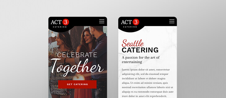 efelle creative Serves Up an Appetizing Website for ACT 3 Catering