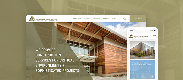 We Just Launched a New Website for Construction Industry Firm Aldrich + Associates