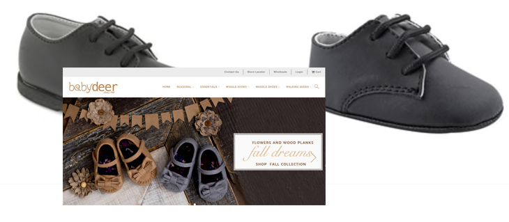 Website Design Launched for Shoe Company, Baby Deer