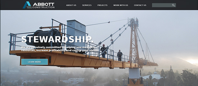 efelle creative Rebuilds Abbott Construction's Responsive Website