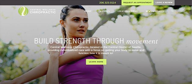 efelle Launches Central Wellness Chiropractic's Responsive Website!
