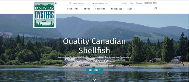 Responsive Redesign and Online Store for Fanny Bay Oysters!