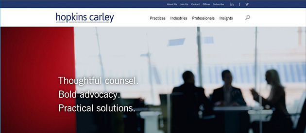 efelle Launches New Website for Hopkins & Carley!