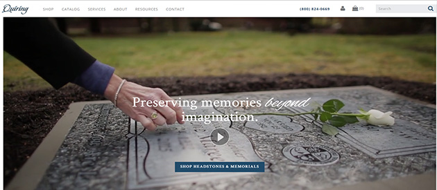 New eCommerce Website For Seattle's Quiring Monuments!
