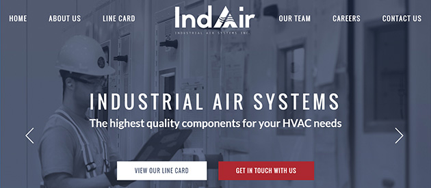 New, Responsive Website for Industrial Air Systems!