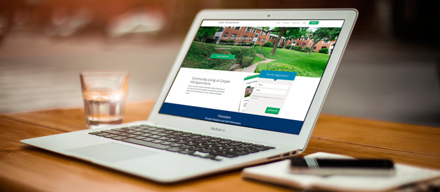 New Lead Generation Website Design Project for Gramatan Property Management's Cooper Hill Apartments