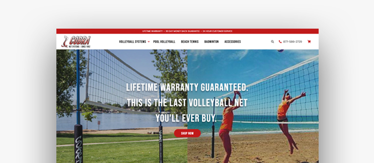 eCommerce Website for Cobra Volleyball is Live!