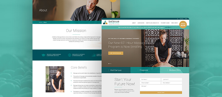 Freshly Launched—Stylish and Professional Website for Bellevue Massage School