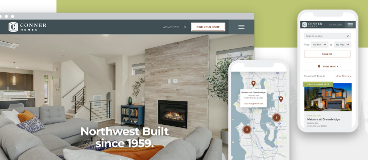 Seattle Home Builder Conner Homes Launches a New Website!