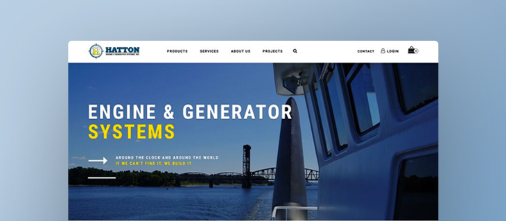 We're All Revved Up Over Hatton Marine's Bold New Service and Sales Website