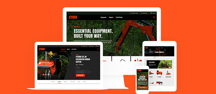 Website Design For B2b Equipment Manufacturers Eterra Attachments Efelle Creative Seattle Wa