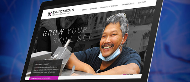 Responsive Website Transformation for Aerospace Company Exotic Metals