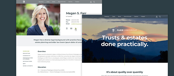 Launched: Website for Top Washington Law Firm Farr Law Group