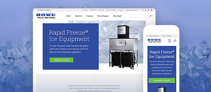 New Website for Howe Corporation Is as Cool as Ice