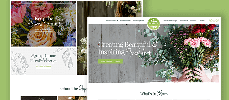 Design Details We Love from Juniper Flower's eCommerce Website