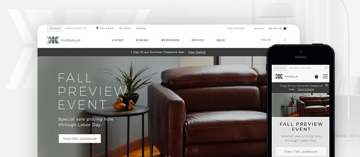 Modern eCommerce Websites Launched for Seattle-Based Home Furnishings Company