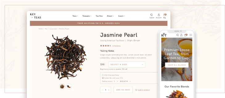 eCommerce Website Design for Tea Company Key to Teas Has Launched!