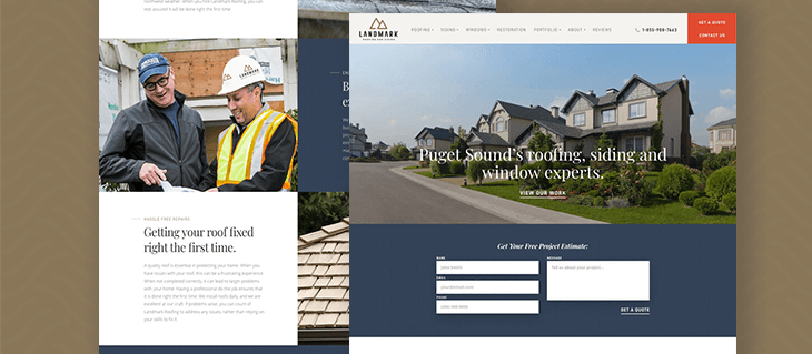 Check Out Our New Website for Landmark Roofing