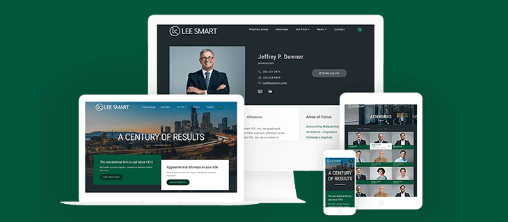 New Logo & Website Design for Top Seattle Law Firm Lee Smart