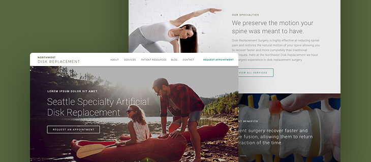 Stylish New Website Now Live for a Major Spinal Surgery Clinic in the Seattle Area