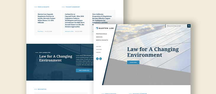 Website Design for Environmental Lawyers at Marten Law
