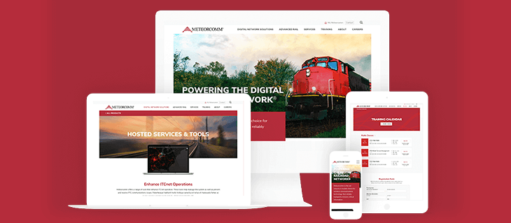 Launched: Website Redesign for Railroad Tech Company MeteorComm