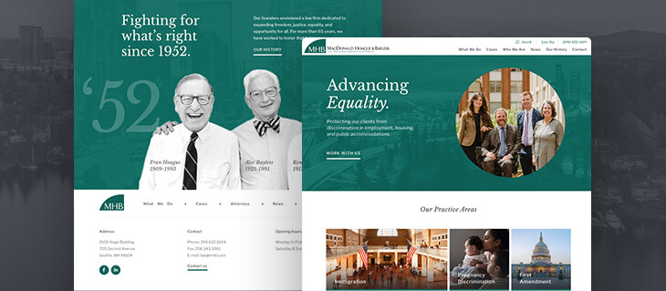 New Law Firm Website for MacDonald Hoague & Bayless is Now Live