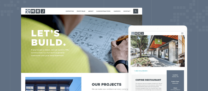 Website Redesign for Seattle Construction Firm MRJ Constructors