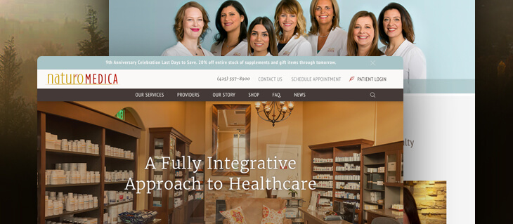 Website Redesign for Group of Naturopathic Clinics on Seattle's Eastside Is Now Live!