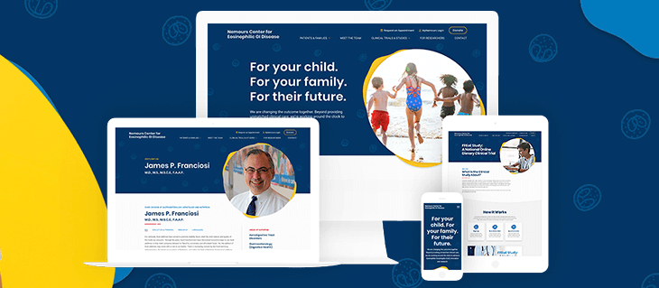Our Website Design For The Cutting Edge Researchers at Nemours Center for EoE is Now Live