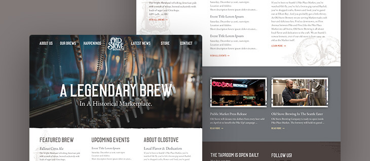 Restaurant Website Redesign Launched for Seattle-Based Brewery Old Stove
