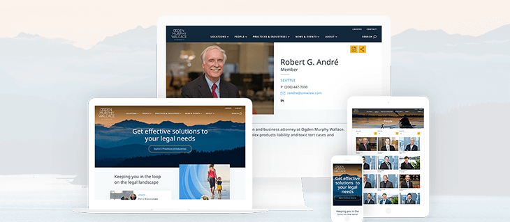 Seattle Based Law Firm Ogden Murphy Wallace Has a Beautiful New Website
