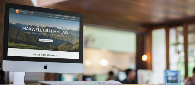 Professional Logo and Website Redesign for Seattle Law Firm Maxwell Graham