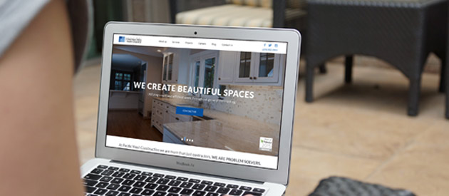 New Responsive Professional Service Website Launch for Pacific West Construction