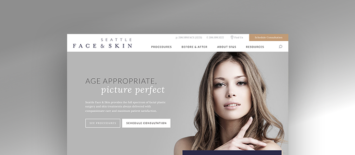New Professional Service Website for Seattle Face & Skin Is Live