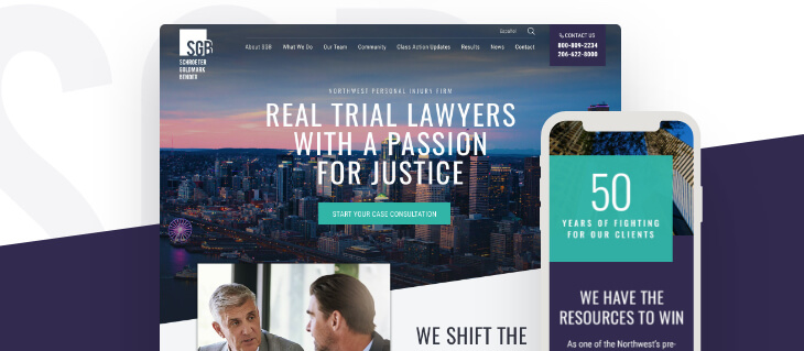 Award Winning Law Firm Website Design for Seattle Law Firm SGB!
