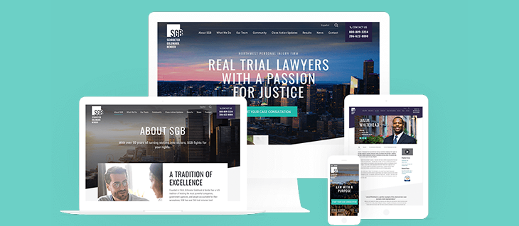 Check Out Our Website Redesign for Seattle Law Firm SGB!