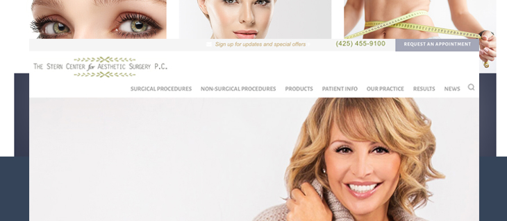 New Website Launched for The Stern Center for Aesthetic Surgery, PC