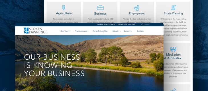 New Law Firm Website Redesign Launched for PNW-Based Stokes Lawrence