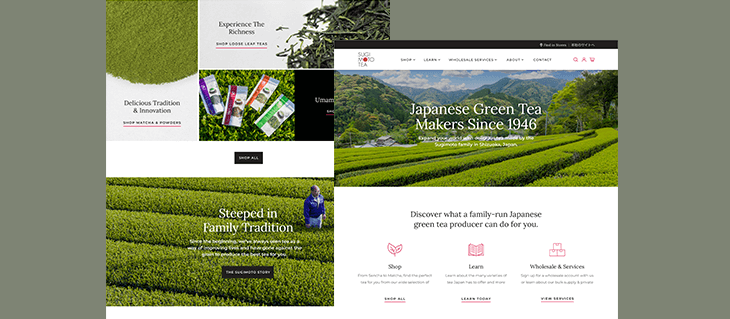 New eCommerce Website Design & Launch for Sugimoto Tea Company!