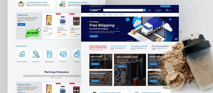 eCommerce Website Migration from Volusion to Shopify for Canadian Supplement Company