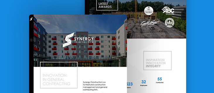 We Delivered a Stunning, Feature-Rich Website to Client-Focused, Bellevue-Based Synergy Construction