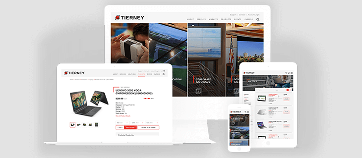 We're Excited to Announce the Launch of our eCommerce Website for Tierney Brothers