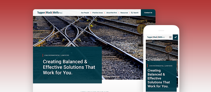 Launched: Legal Firm Website for Tupper Mack Wells
