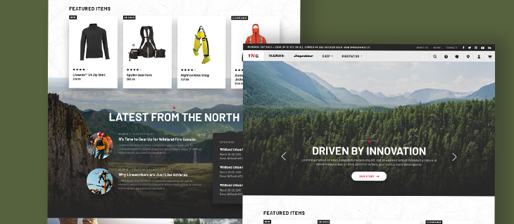 Check out our Website Redesign for B2B Clothing Brand True North Gear