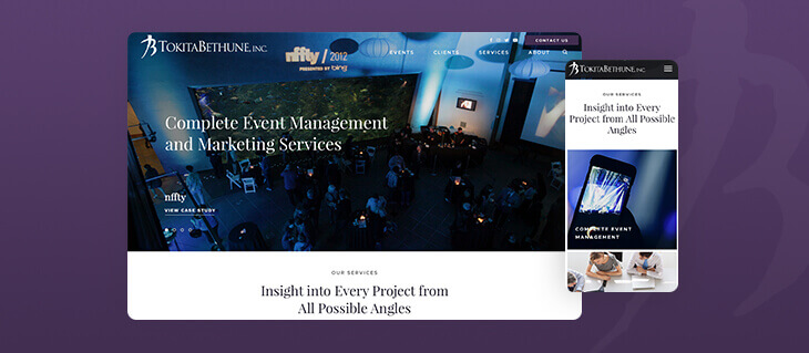 Tokita Bethune's New Event Management and Marketing Website is the Belle of the Ball