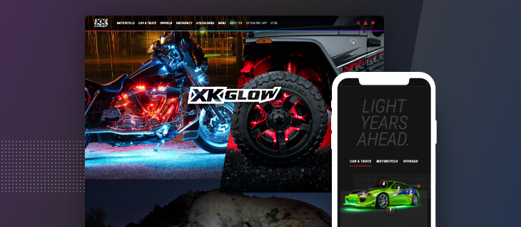 Our eCommerce Website Design for XKGlow has Won a W3 Award!