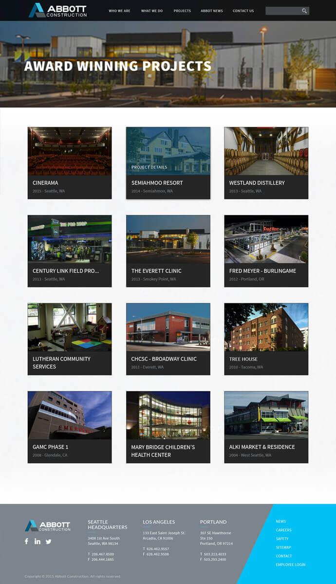 Abbott Construction : efelle creative, Seattle, WA