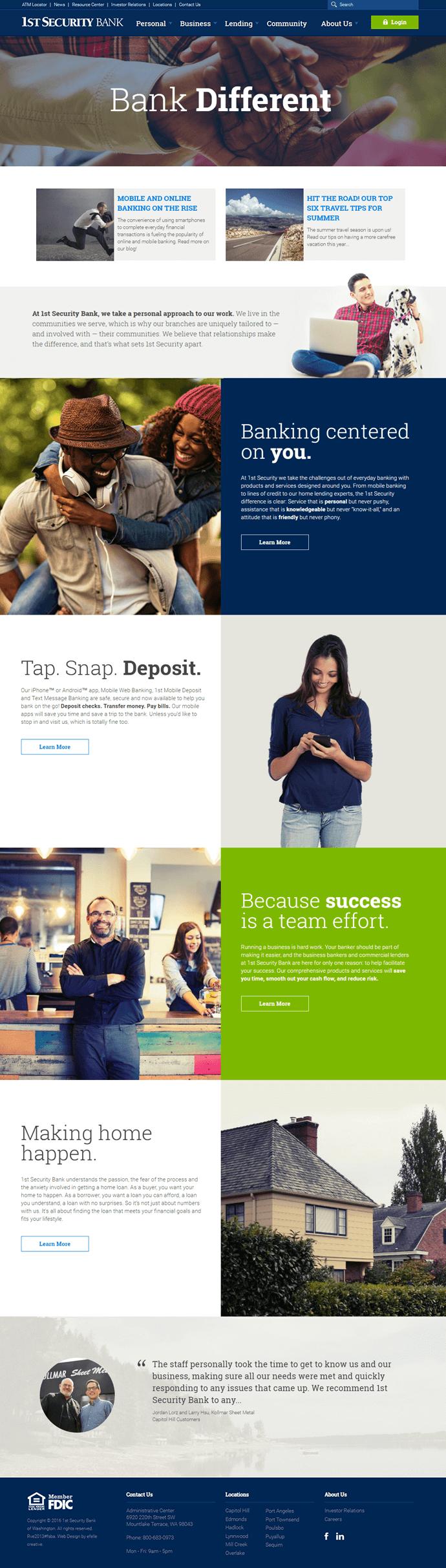 Apart Design Bank.1st Security Bank Efelle Creative Seattle Wa